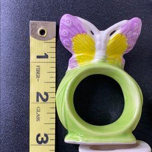 Napkin rings 12 porcelain Butterflies